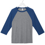 Bella+Canvas Unisex 3/4-Sleeve Baseball Tee