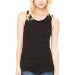 Ladies'  5.8 oz., 1x1 Baby Rib Widestrap Tank
