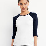 Bella Ladies 3/4 Sleeve Contrast T-Shirt