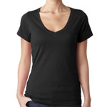 Ladies Sheer V-neck T-Shirt