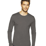 Men's Long-Sleeve Unisex Cotton Crew